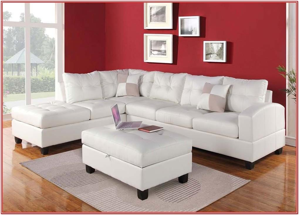 3 Piece White Living Room Set
