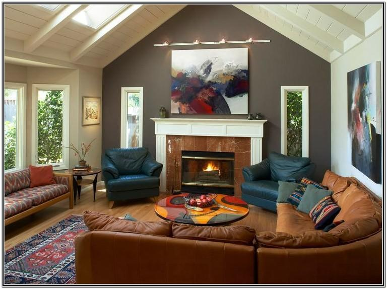Accent Wall Gray Living Room Paint Ideas