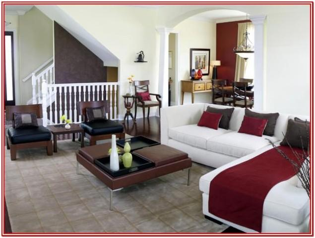 Adding Color To Brown Living Room