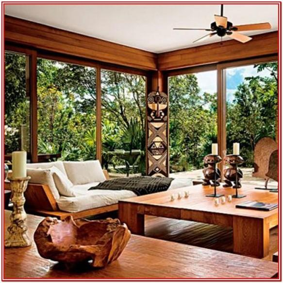 African Inspired Living Room Decorating
