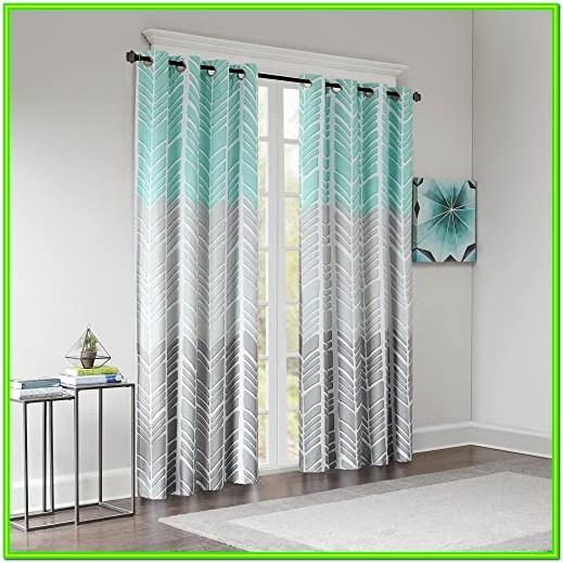 Aqua Living Room Curtains
