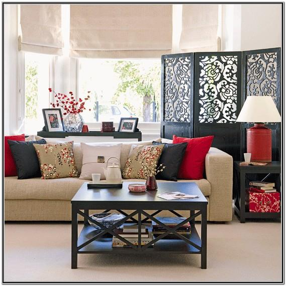 Asian Inspired Living Room Decor