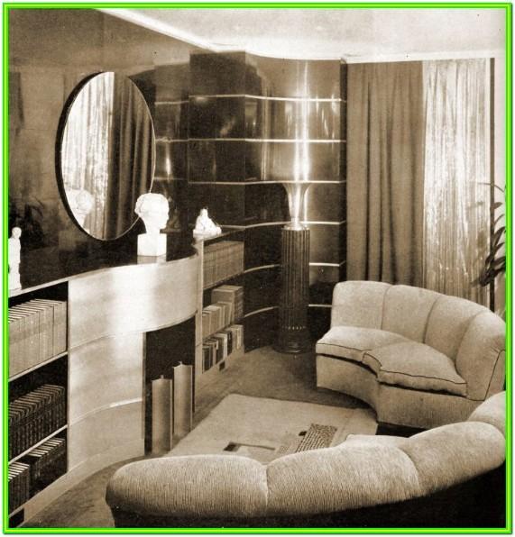 Authentic Art Deco Living Room Furniture