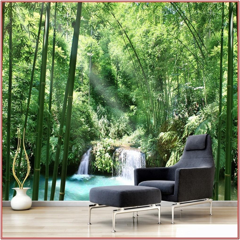 Bamboo 3d Wall Painting Designs For Living Room