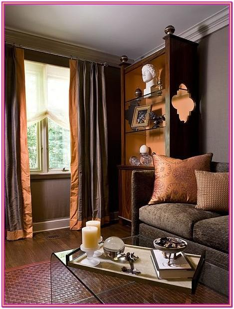 Beautiful Burnt Orange And Brown Living Room Decor