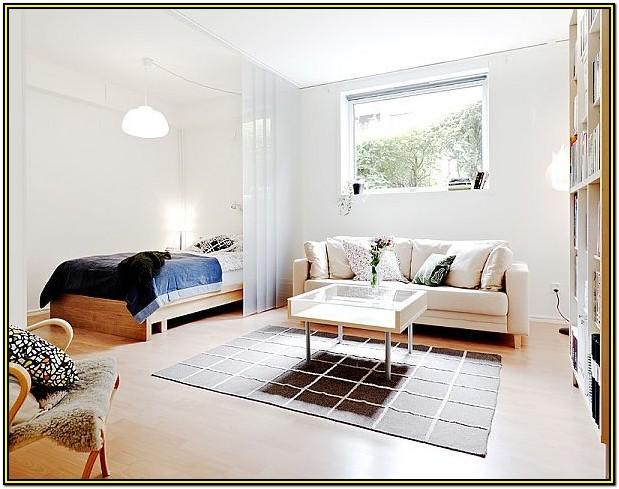 Bedroom And Living Room Combined Design