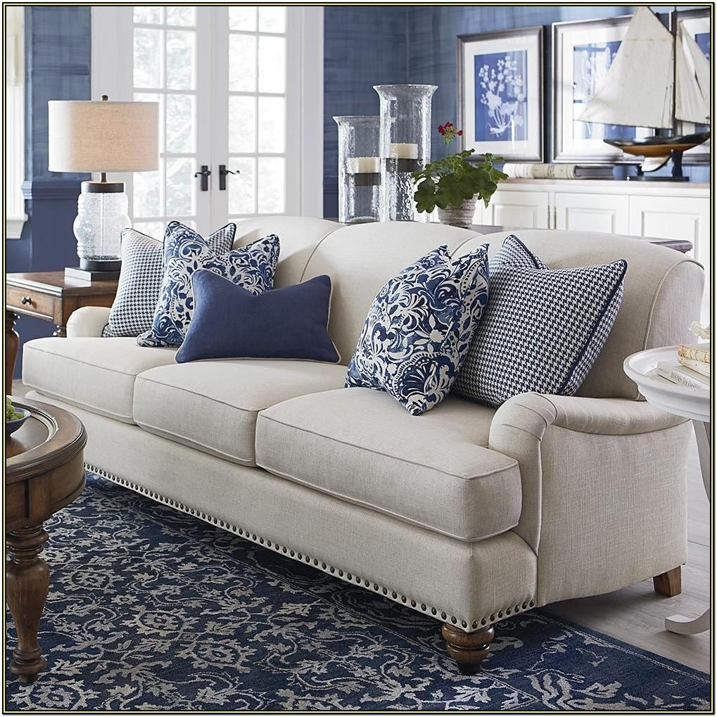 Beige Leather Couch Living Room