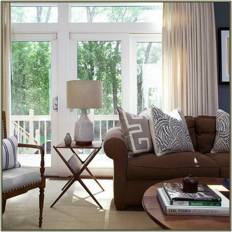 Beige Living Room With Brown Furniture