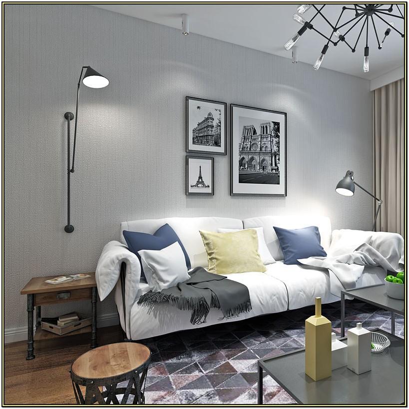 Black And Grey Wallpaper Living Room