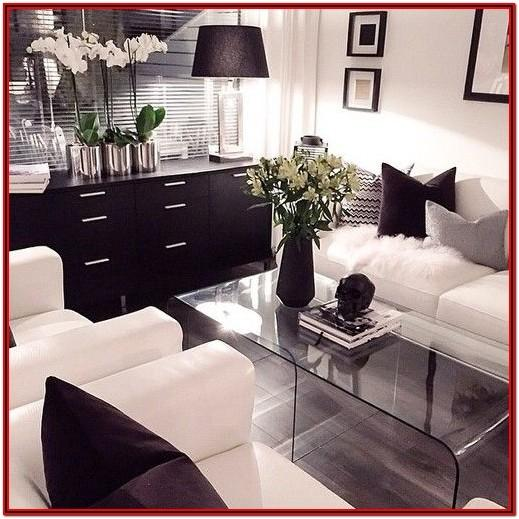 Black And White Modern Living Room Decor