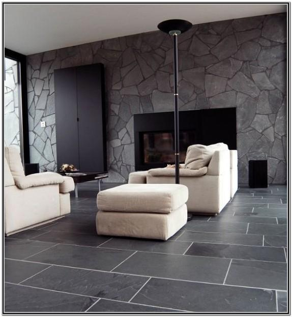 Black And White Tile Living Room