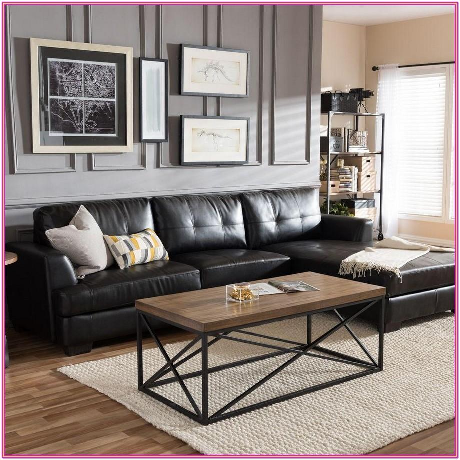 Black Leather Couch Living Room Ideas