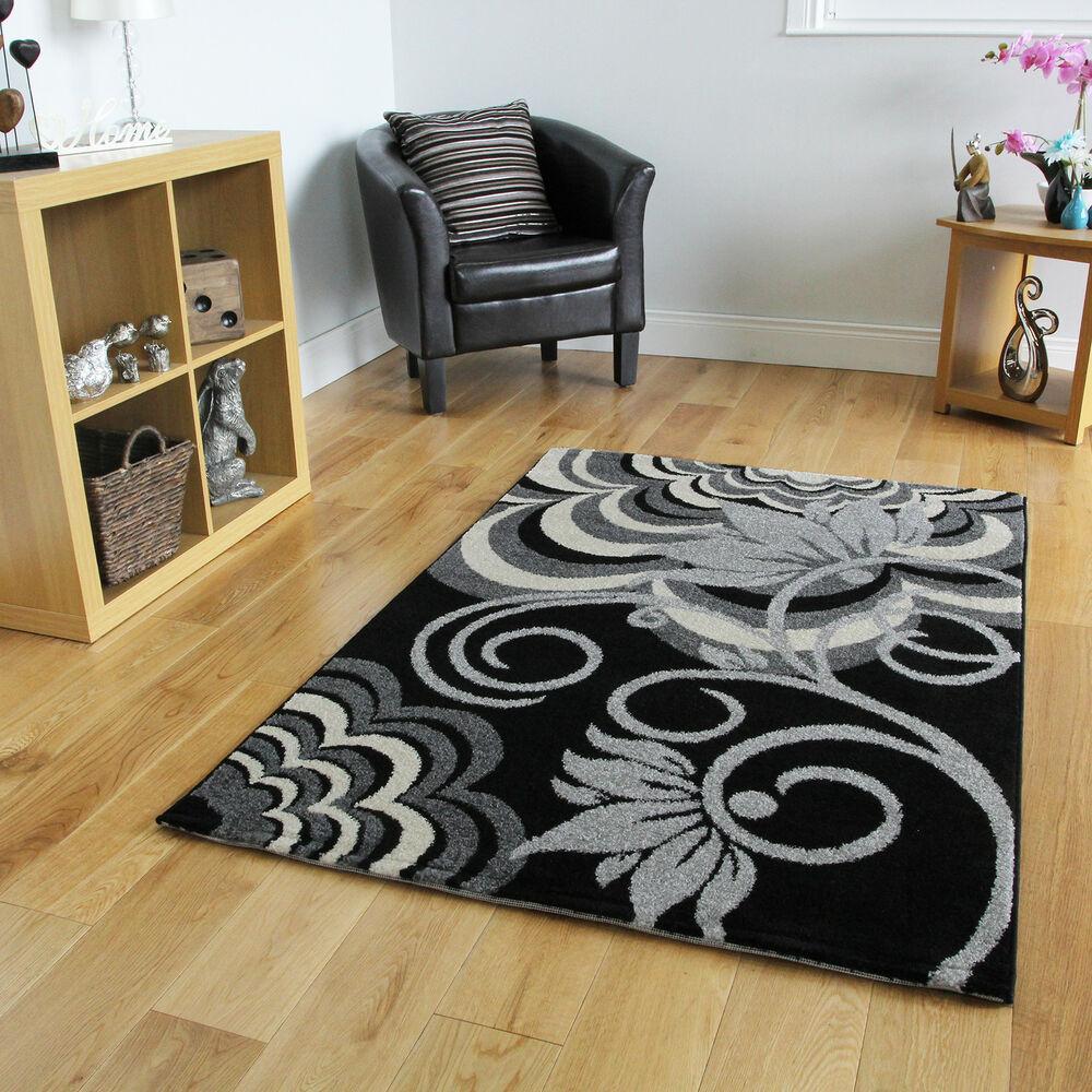 Black Living Room Rugs Large