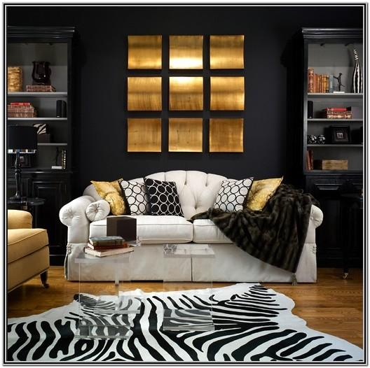 Black White Grey And Gold Living Room