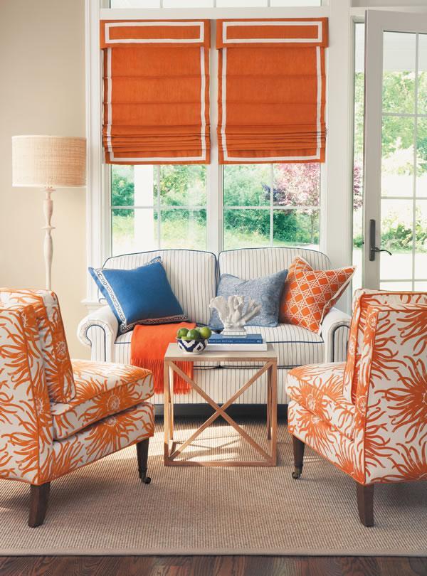 Blue And Orange Living Room Decor