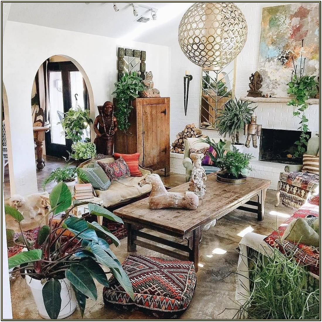 Bohemian Hippie Living Room Decor
