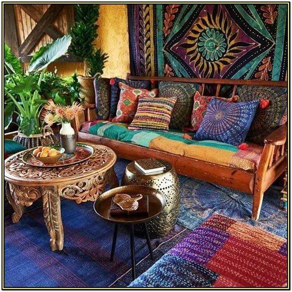 Boho Hippie Living Room Decor