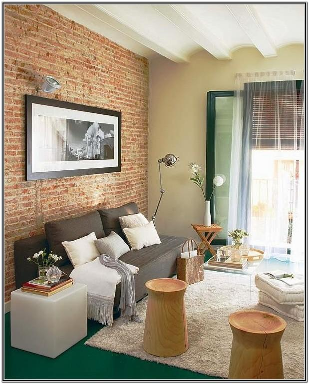 Brick Wall Design For Small Living Room