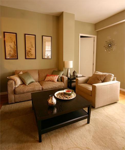 Brown And Sage Living Room