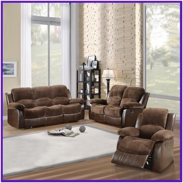 Brown Reclining Living Room Set
