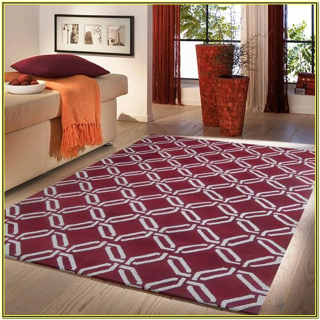 Burgundy Living Room Rug