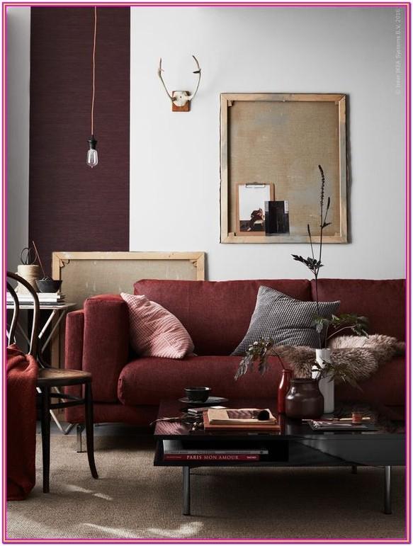 Burgundy Maroon Sofa Living Room