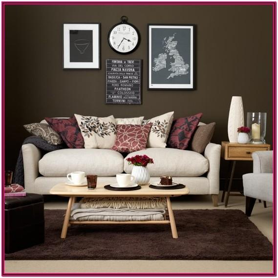 Chocolate And Burgundy Living Room