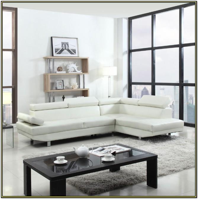 Contemporary Modern White Sofa Living Room