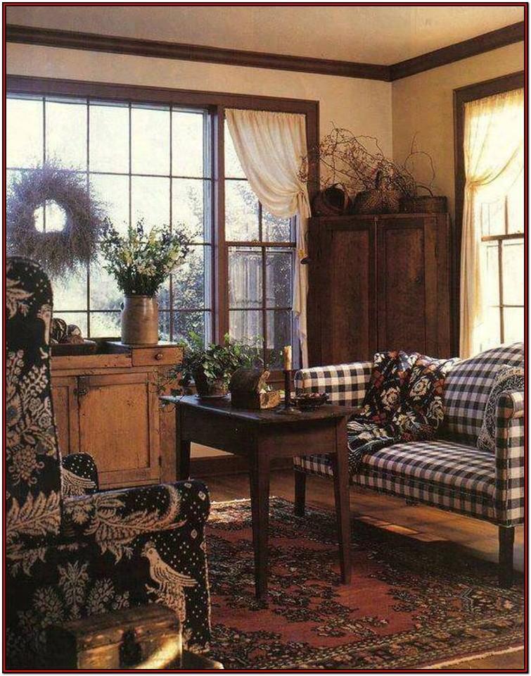 Country Plaid Living Room Sets