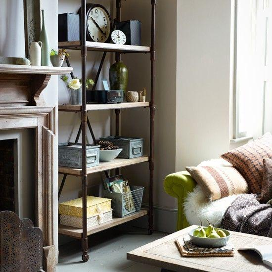 Country Shelves For Living Room