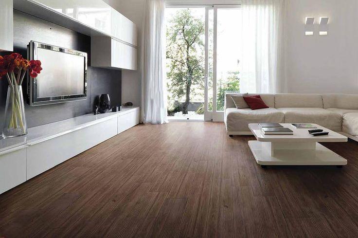 Dark Brown Tiles For Living Room