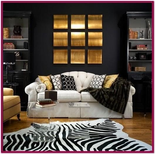 Dark Grey And Gold Living Room Ideas