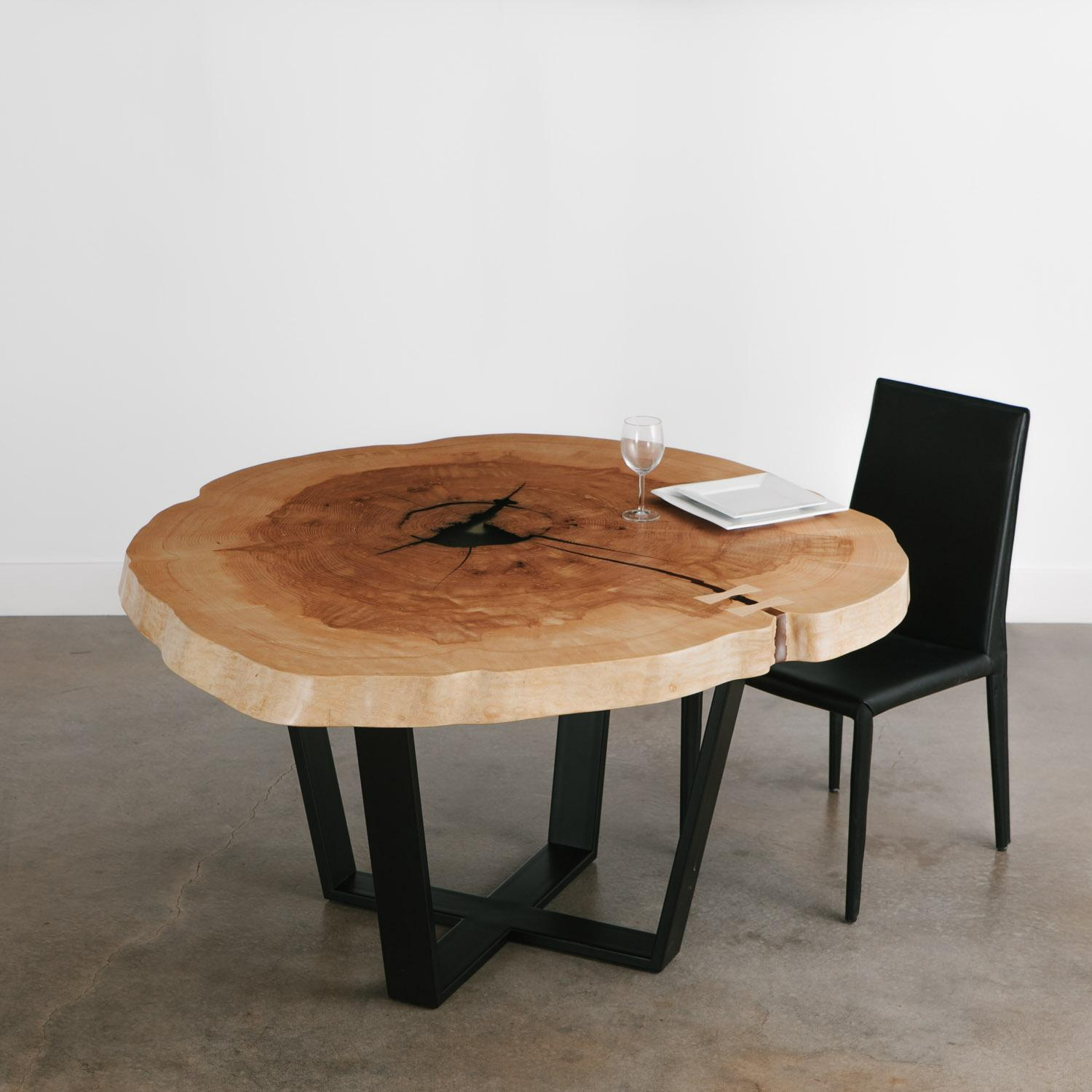 Dining Room Round Live Edge Table