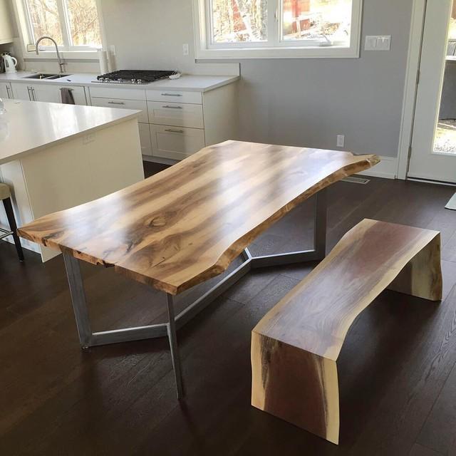 Dining Room Walnut Live Edge Table