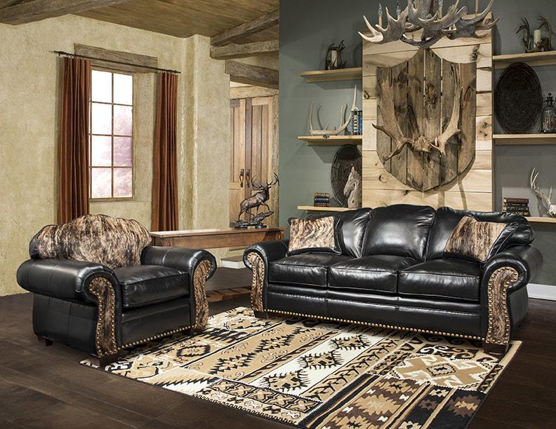 Distressed Leather Living Room Sets