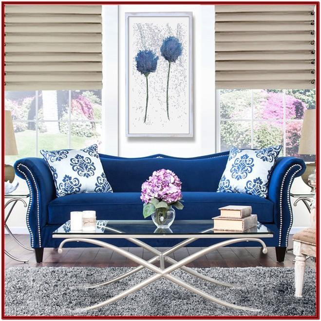 Elegant Royal Blue Sofa Living Room Ideas