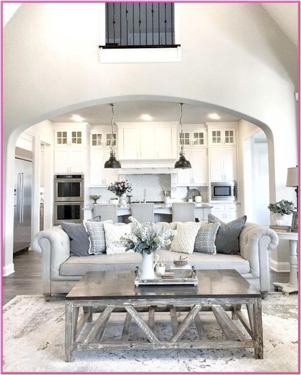 Farmhouse Inspired Gray Rustic Farmhouse Living Room