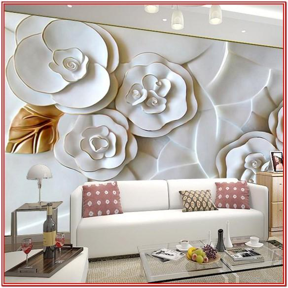 Floral 3d Wall Painting Designs For Living Room