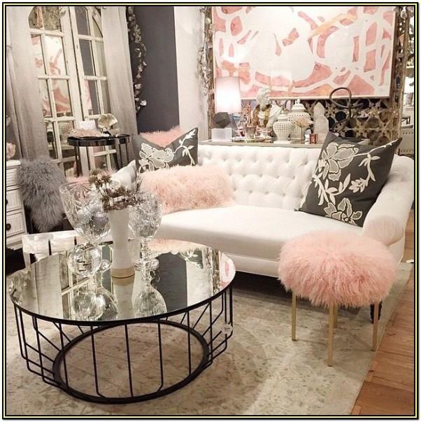 Girly Glam Living Room Decor