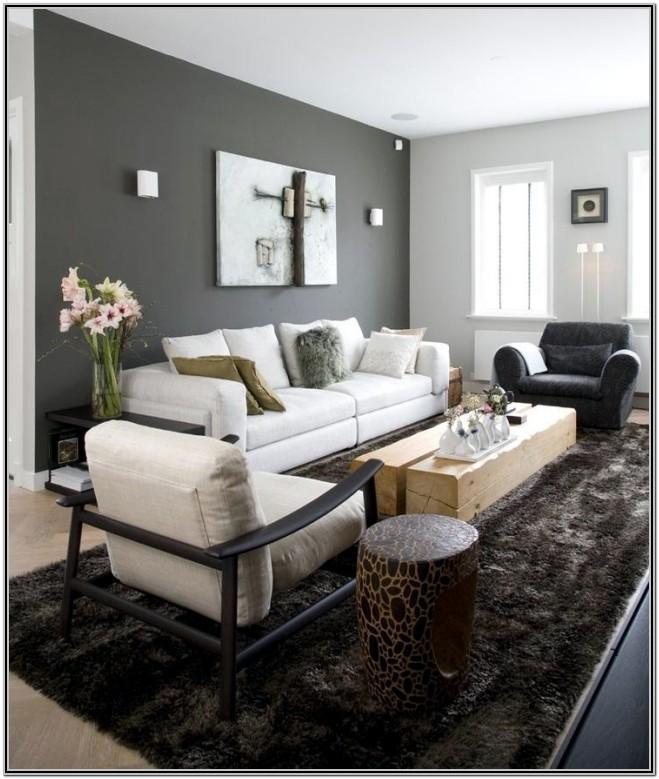 Gray 2 Tone Living Room Paint Ideas