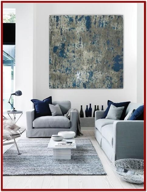 Gray And White Living Room Wall Decor