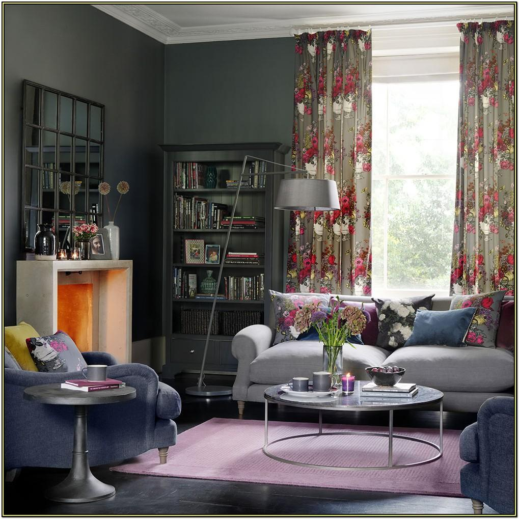 Gray Red And Blue Living Room Ideas