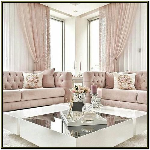 Grey And Blush Living Room Ideas