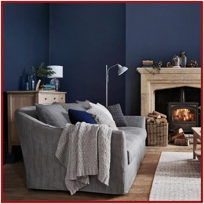 Grey And Dark Blue Living Room Ideas