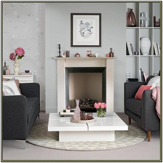Grey And Pink Living Room Decorating Ideas