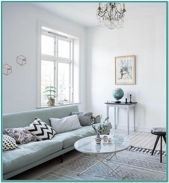 Grey And Seafoam Green Living Room