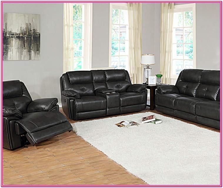 Grey Leather Living Room Furniture Sets