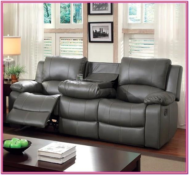 Grey Leather Living Room Furniture