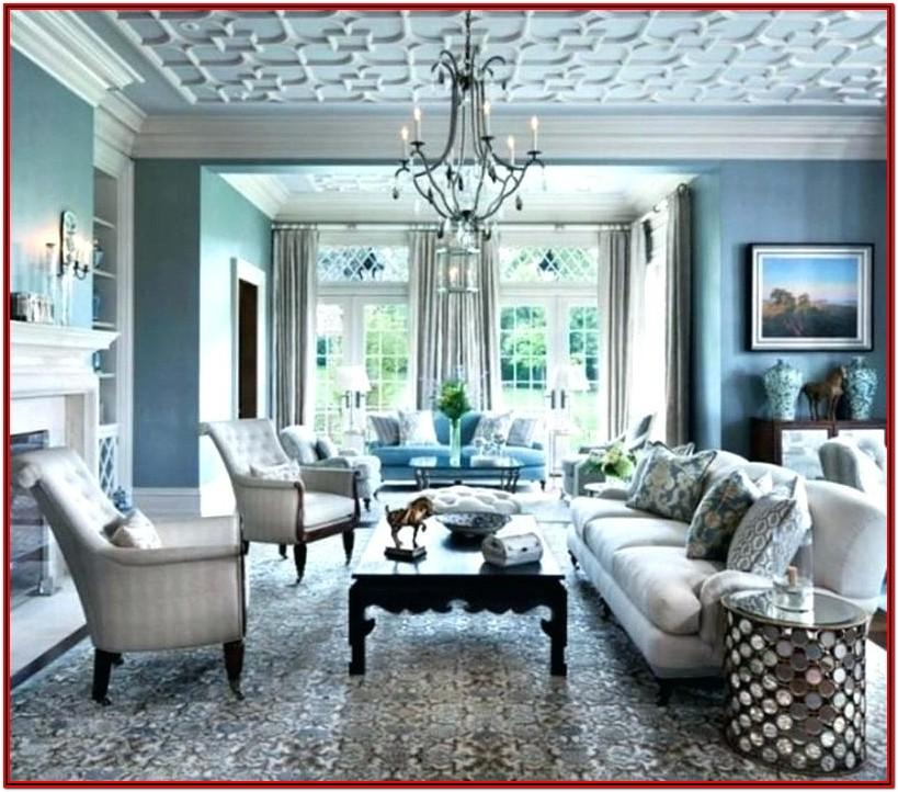 Grey Teal And Gold Living Room
