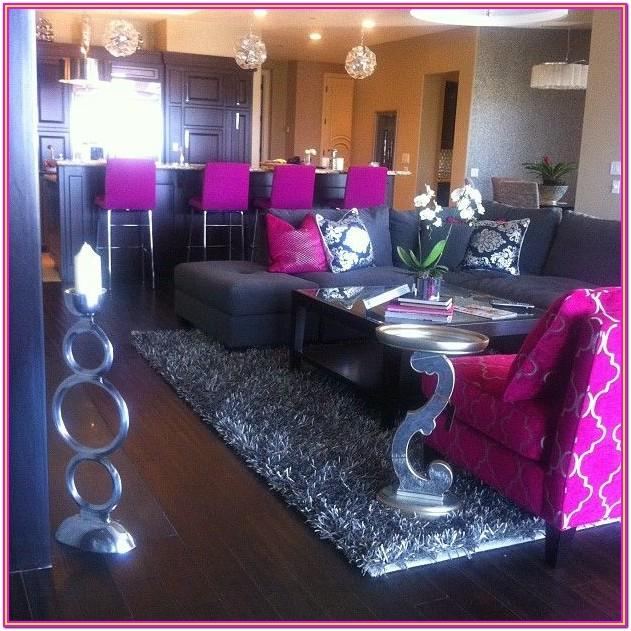 Hot Pink And Grey Living Room Ideas